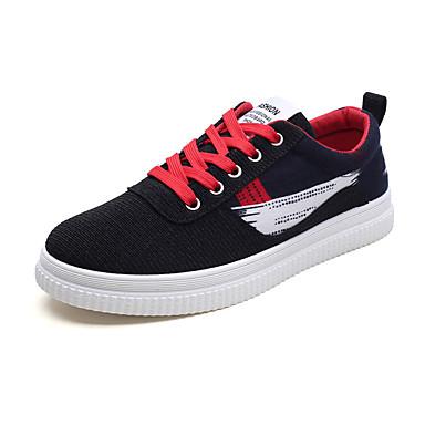 Men's Light Fall Soles Fabric Spring / Fall Light Sneakers Black / Red / Black / Green / Black / Blue f058aa