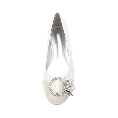 Strass Plat de Paillette Printemps 06623961 Eté Bleu Femme Bout Brillante Chaussures Noeud Ballerine rond Satin mariage Talon Chaussures UqzzY7B