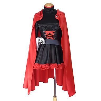Zainspirowany przez RWBY Ruby Rose Anime Kostiumy cosplay Garnitury cosplay Inne Długi rękaw Sukienka / Płaszcz / Więcej akcesoriów Na Męskie / Damskie