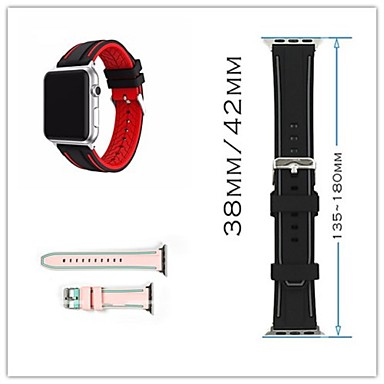 Pulseiras de Relógio para Apple Watch Series 3 / 2 / 1 Apple Fecho Clássico Silicone Tira de Pulso