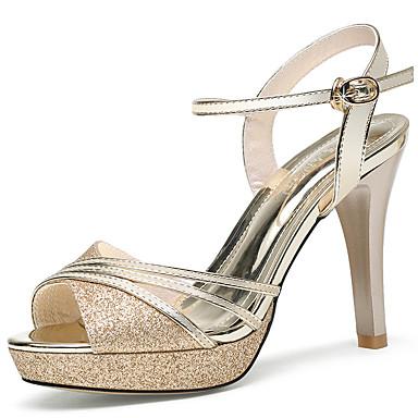 Mujer Zapatos Cuero Patentado Verano / Otoño Gladiador / Pump Básico Sandalias Tacón Cuadrado Dorado / Plata / Fiesta y Noche recommander Orange 100% D'origine Livraison Gratuite Boutique Offre CPsZm