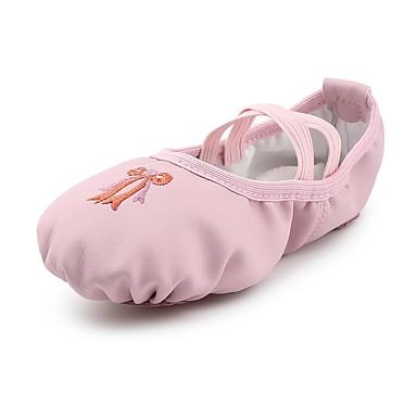 Dla dziewczynek Baletki Derma Płaski obca Kwiat Płaski obcas Personlaizowane Buty do tańca Różowy / Domowy / Trening
