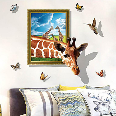 decorative wall stickers - animal wall stickers animals 3d living