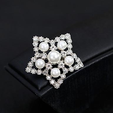 billige Nåler og brosjer-Dame Nåler Europeisk Mote Perle Brosje Smykker Gull Sølv Til Bryllup Daglig