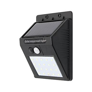 billige Utendørsbelysning-1pc 10 W Wall Light Vanntett / Solar Kjølig hvit 3.7 V Utendørsbelysning 20 LED perler