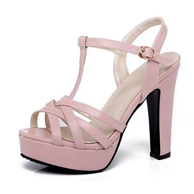 Chaussures Sandales Eté 06620954 Femme Confort Bottier Noir Basique Talon Blanc Rose Escarpin Polyuréthane 4wafWxB