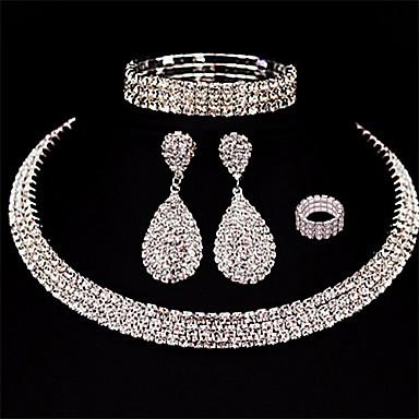 levne Dámské šperky-Dámské Visací náušnice Vícevrstvé Hruška Kapka hvězdný prach dámy Evropský Módní Vícevrstvé Náušnice Šperky Bílá Pro Svatební Plesová maškaráda Zásnuby Maturitní ples Slib