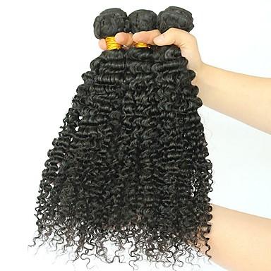 3 zestawy Włosy brazylijskie Curly Włosy naturalne Doczepy z naturalnych włosów Kolor naturalny Ludzkie włosy wyplata Rozbudowa / Gorąca wyprzedaż Ludzkich włosów rozszerzeniach Wszystko