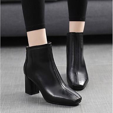 06640325 Noir Talon Femme Printemps Bottes Automne Chaussures Polyuréthane Confort Rouge Bottier wC8ZCvq4T