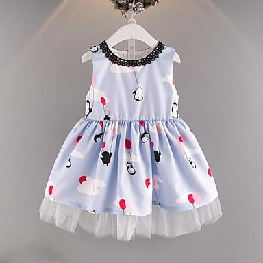 Brzdąc Dla dziewczynek Nadruk Bez rękawów Sukienka / Śłodkie