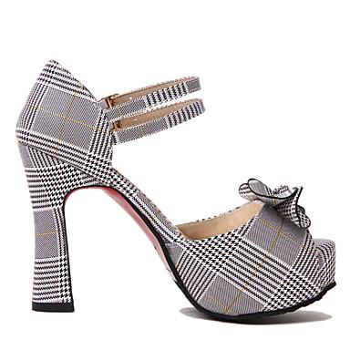 Chaussures Bout ouvert Confort Printemps Similicuir Vert Talon Eté Bobine Jaune Femme 06640469 Sandales dH8Awndq