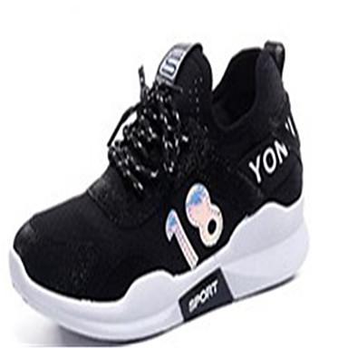 Damen Schuhe PU Frühling Sommer Komfort Loafers & Slip-Ons Keilabsatz Runde Zehe Strass für Normal Kleid Weiß Schwarz