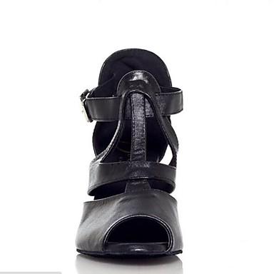 Cuir Basique Cuir Eté 06641847 Sandales Chaussures Nubuck Escarpin Talon Noir Femme Personnalisé qwIYt6x5n