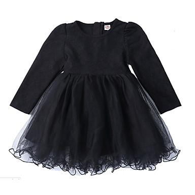 Dla dziewczynek Patchwork / Żakard Długi rękaw Sukienka / Urocza