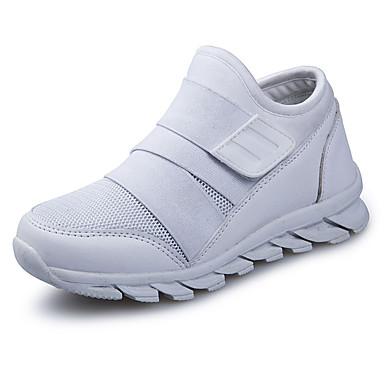 Fete Pantofi PU Primavara vara Confortabili Adidași de Atletism Cataramă pentru Alb / Rosu / Negru / Alb
