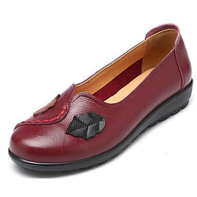 Marron Printemps Confort Femme Cuir Talon 06652738 Bourgogne et Chaussures D6148 Automne Mocassins Noir Chaussons Plat UH77wrqE