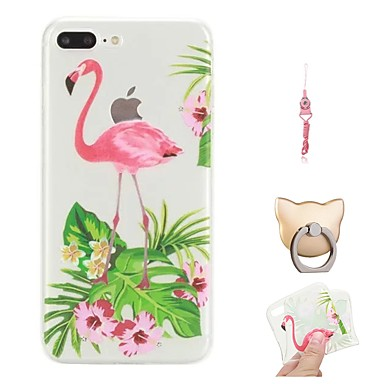 Maska Pentru Apple iPhone X / iPhone 8 Plus Model Capac Spate Flamingo Moale TPU pentru iPhone X / iPhone 8 Plus / iPhone 8