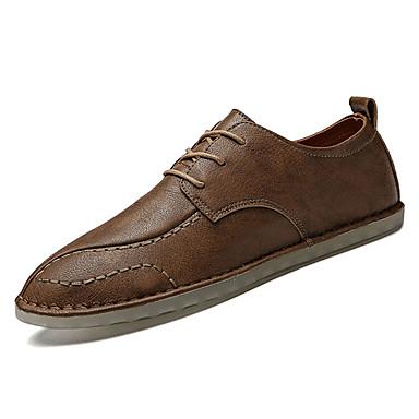 Men's Nappa Leather Spring / Summer Comfort Oxfords Black / Brown Light Brown / Dark Brown / dc6643