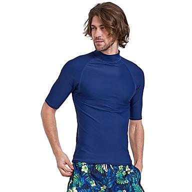 SBART Męskie Docieplacze SPF50, Ochrona przeciwsłoneczna UV, Quick Dry Nylon Krótki rękaw Stroje kąpielowe Stroje plażowe Docieplacze / Topy Nurkowanie
