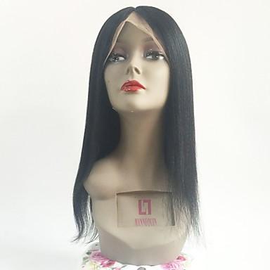 Păr Remy Integral din Dantelă Perucă Păr Brazilian Drept Negru Perucă Frizură în Straturi 130% Densitatea părului cu păr de păr pentru Femei de Culoare Negru Pentru femei Scurt Mediu Lung Peruci Păr