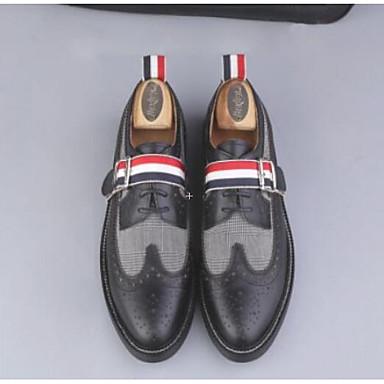 Bărbați Pantofi de confort Nappa Leather / Piele Primăvară Mocasini & Balerini Negru