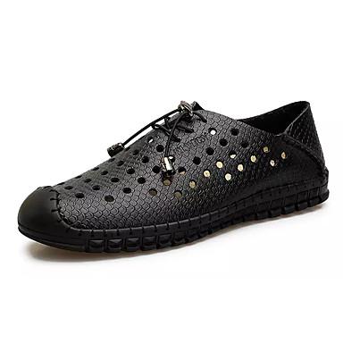 Męskie Komfortowe buty Skóra bydlęca / PU Lato Oksfordki Biały / Czarny / Ciemnoniebieski / Na zewnątrz