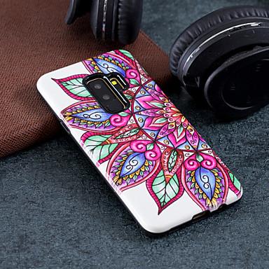 Kılıf Na Samsung Galaxy S9 Plus / S9 Wzór Czarne etui Kwiaty Twarde PC na S9 / S9 Plus / S8 Plus
