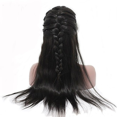 cheap Human Hair Wigs-Human Hair Unprocessed Human Hair Lace Front Wig Side Part style Malaysian Hair Straight Wig 250% Density with Baby Hair Natural Hairline For Black Women Unprocessed Bleached Knots Natural Women's