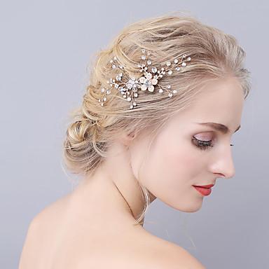 Imitație de Perle Îmbrăcăminte de păr cu Cristale / Strasuri 1 Bucată Nuntă / Party / Seara Diadema