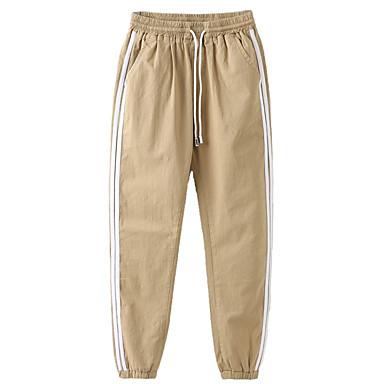 Copil Băieți De Bază / Șic Stradă Mată / Dungi Poliester Pantaloni Negru 150