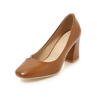 Femme Chaussures Soirée Confort Bottier carré Chaussures à Evénement amp; Polyuréthane Amande Nouveauté Talon Talons Eté Marron 06682639 Bout qBfqrS