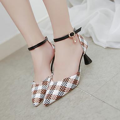 Tissu Femme Marron Marche Cône Sandales Confort 06713754 Noir pointu Eté Rouge Talon Chaussures Bout 5grwBqgnRx