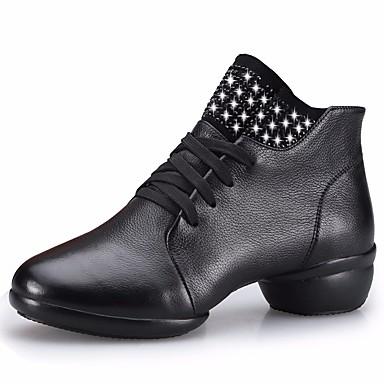 povoljno Dance Boots-Žene Koža Ples čizme Tenisice Niska potpetica Crn / Braon / Crveni Drak / Seksi blagdanski kostimi / Vježbanje