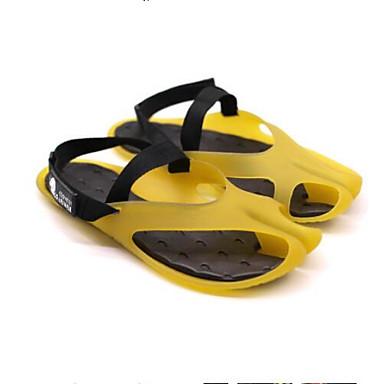 Bărbați Pantofi de confort PVC Vară Sandale Alb / Galben / Verde / În aer liber