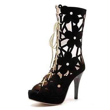 Tacón Sandalias Confort Mujer Otoño Stiletto Semicuero Zapatos Yfgb76vy