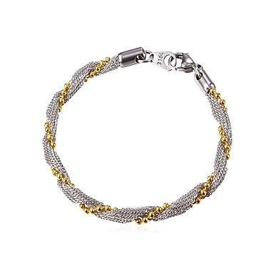 voordelige Herensieraden-Armbanden met ketting en sluiting Twist Circle Modieus Roestvast staal Armband sieraden Zilver Voor Dagelijks