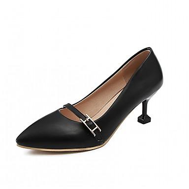 Chaussures à Blanc pointu Nouveauté Confort Rose Noir Similicuir Automne Aiguille Talons Chaussures Boucle 06683437 Talon Bout Femme RCFqHH