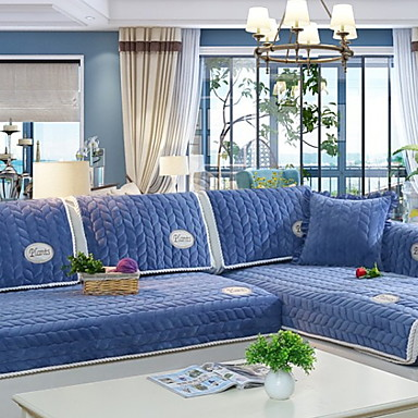 Sofa Cover Solid Colored Reactive Print Polyester Slipcovers