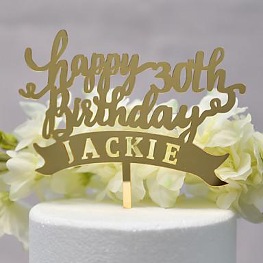 Figurki na tort Klasyczny styl / Ślub nowy Acryic / Polyester Ślub / Rocznica z Akrylowy 1pcs OPP
