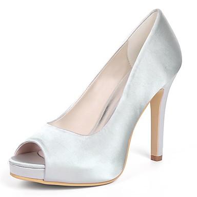 Női Cipő Szatén Tavasz Magasított talpú Esküvői cipők Tűsarok Köröm Piros    Világosbarna   Kristály 2c24b03064
