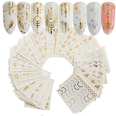 30 pcs Kunstige negle tips Nail Art Kit Klistermærker Negle kunst Manicure Pedicure Bærbar Negle Dekaler Daglig