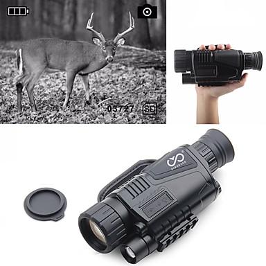 abordables Monoculaires, Jumelles & Télescopes-5 X 40 mm Monoculaire de vision nocturne Infrarouge Portable Rechargeable Multifonction BAK4 Chasse Escalade Militaire Vision nocturne