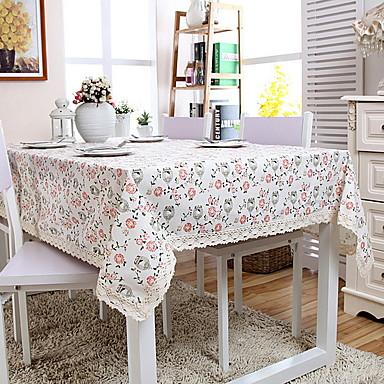 Współczesny PVC / ABS + PC Kwadrat Podkładki Kwiaty / Haft Dekoracje stołowe 1 pcs