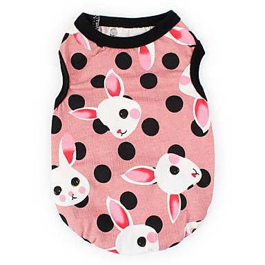 c81b4e21306e Dogs Cats Pets Vest Dog Clothes Polka Dot Animal Rabbit / Bunny Blue Pink  Cotton / Polyester Costume For Dalmatian Japanese Spitz Beagle Spring  Summer ...