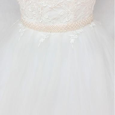 Satin / Tul Nuntă / Party / Seara Cercevea Cu Imitație de Perle Pentru femei Panglici