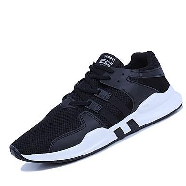 Men's Light Soles Mesh Summer Comfort Athletic Shoes Running White Shoes / Walking Shoes White Running / Black / Black / White 5cc407