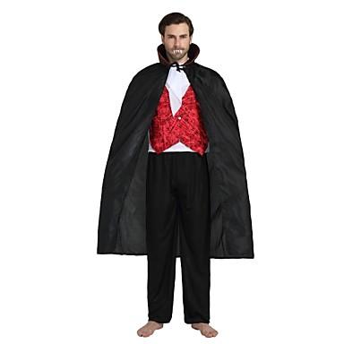 Vampyr Kostym Unisex Halloween Halloween Karnival Barnens Dag Festival    högtid Polyster outfits Svart Enfärgad Halloween 9189989ae0cc2