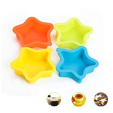 Gwiazda pentagram ciasto silikonowe formy muffin cupcake maker kuchnia piec narzędzia