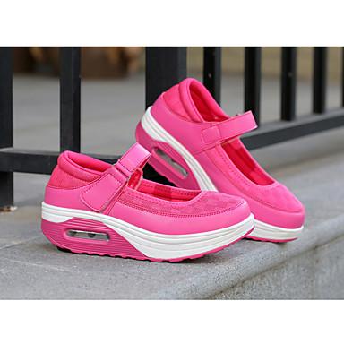 Confort de Negro deporte Gris redondo 06700182 verano Hebilla Zapatos Plano Tul Primavera PU Fucsia Mujer Dedo Tacón Zapatillas 0fWwX4Uq6x
