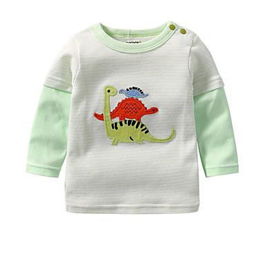זול חולצות לתינוקות לבנים-חולצה שרוול ארוך דפוס פעיל בנים תִינוֹק / פעוטות